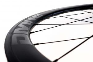 Carbon Road Bike Wheel Black Logo   Divine Cycling