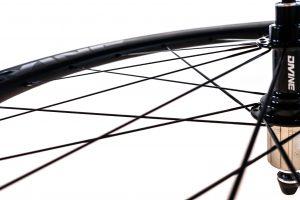 Carbon Road Bike Wheel Detail   Divine Cycling