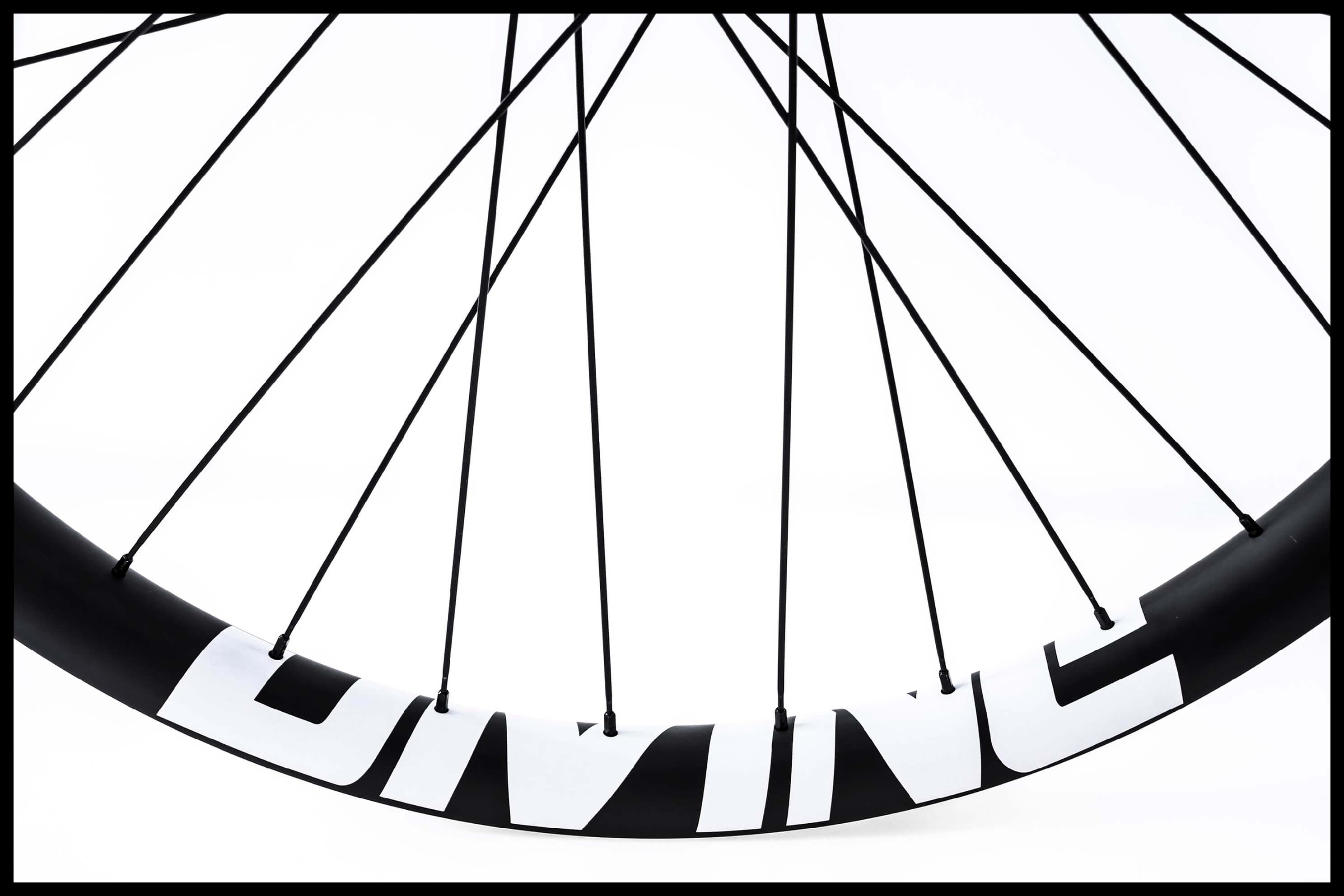 Mountainbike Carbon Rim Logo Detail Image | Divine Cycling