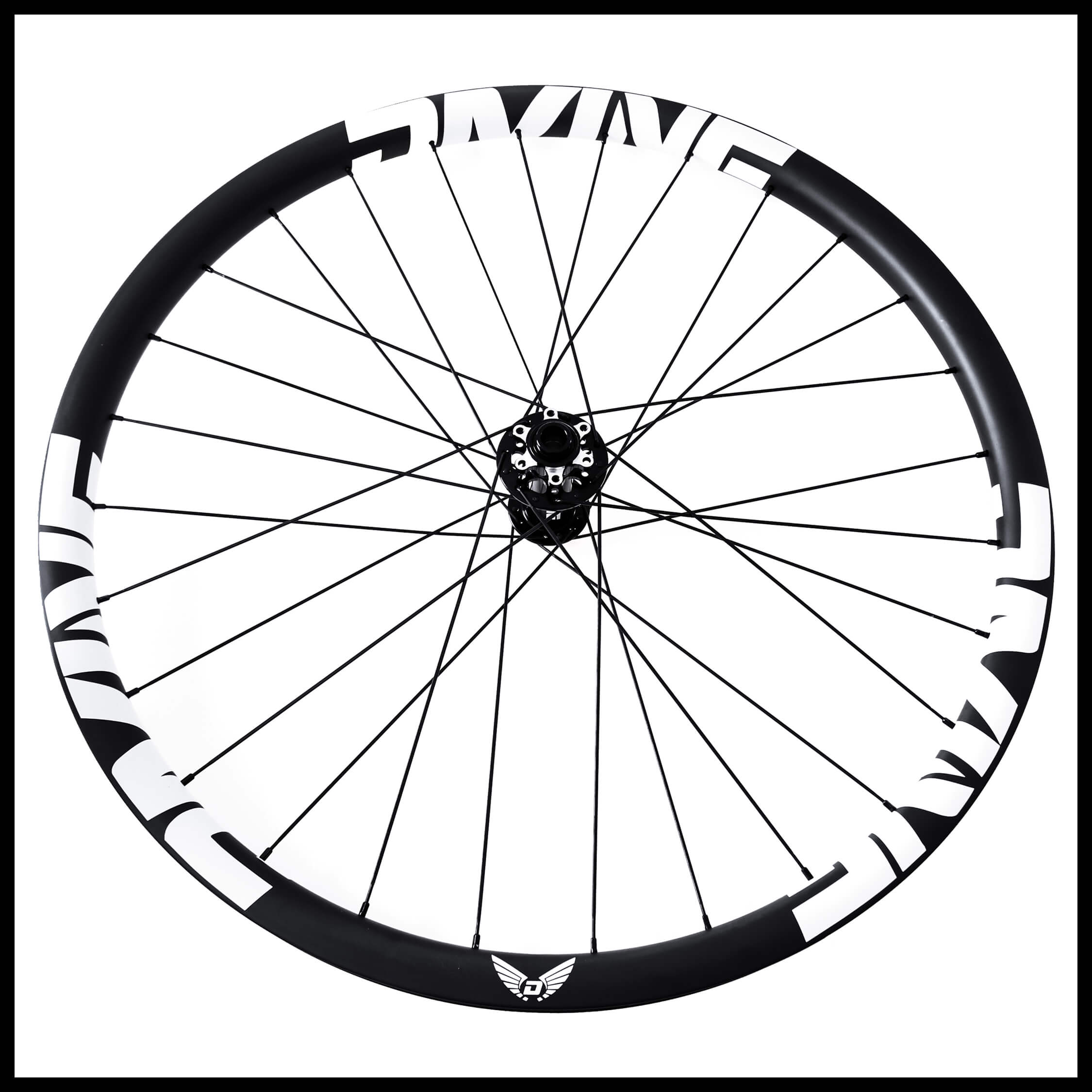 Carbon Mountain Bike Wheels White Logo | Divine Cycling
