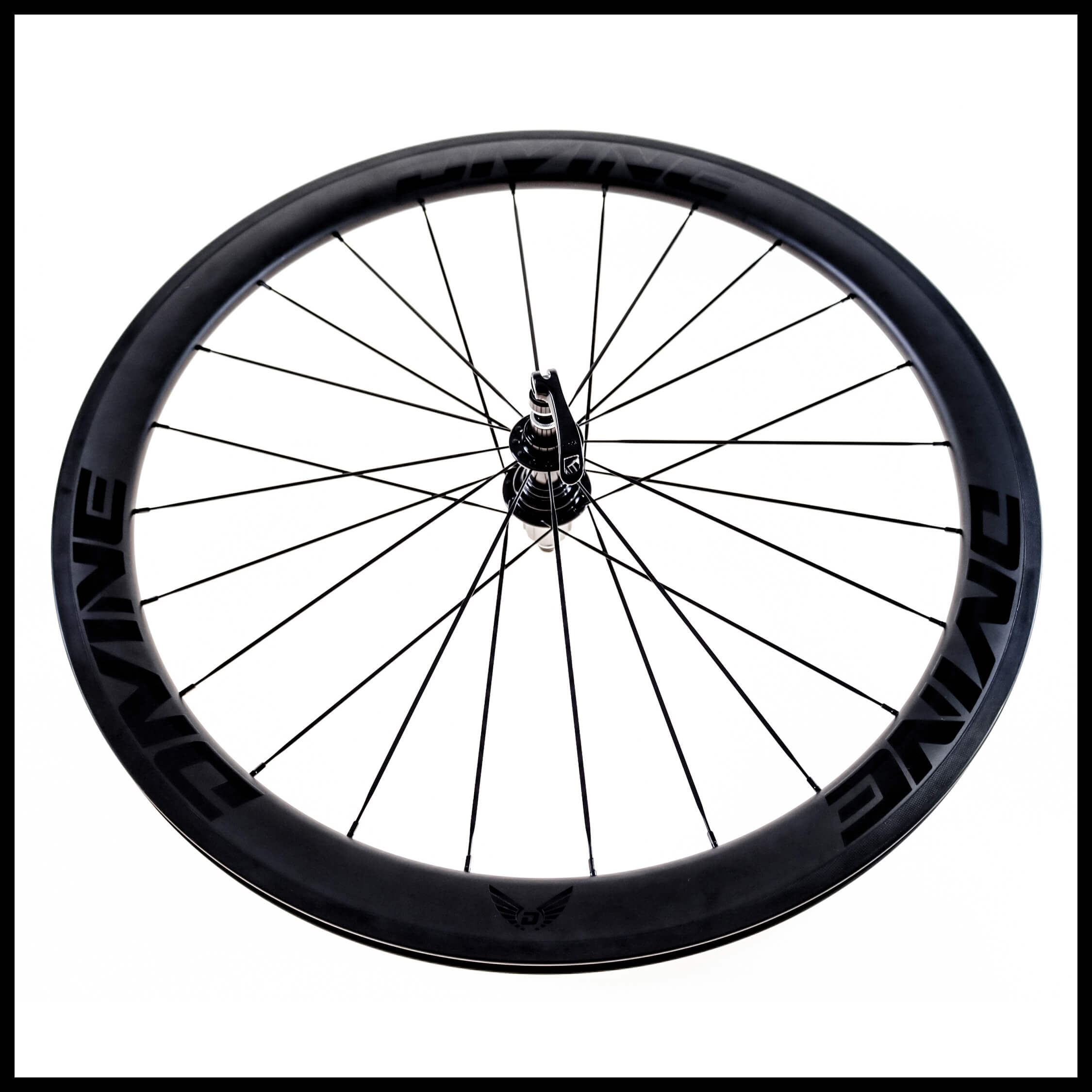 Carbon Road Bike Wheels Black Logo | Divine Cycling