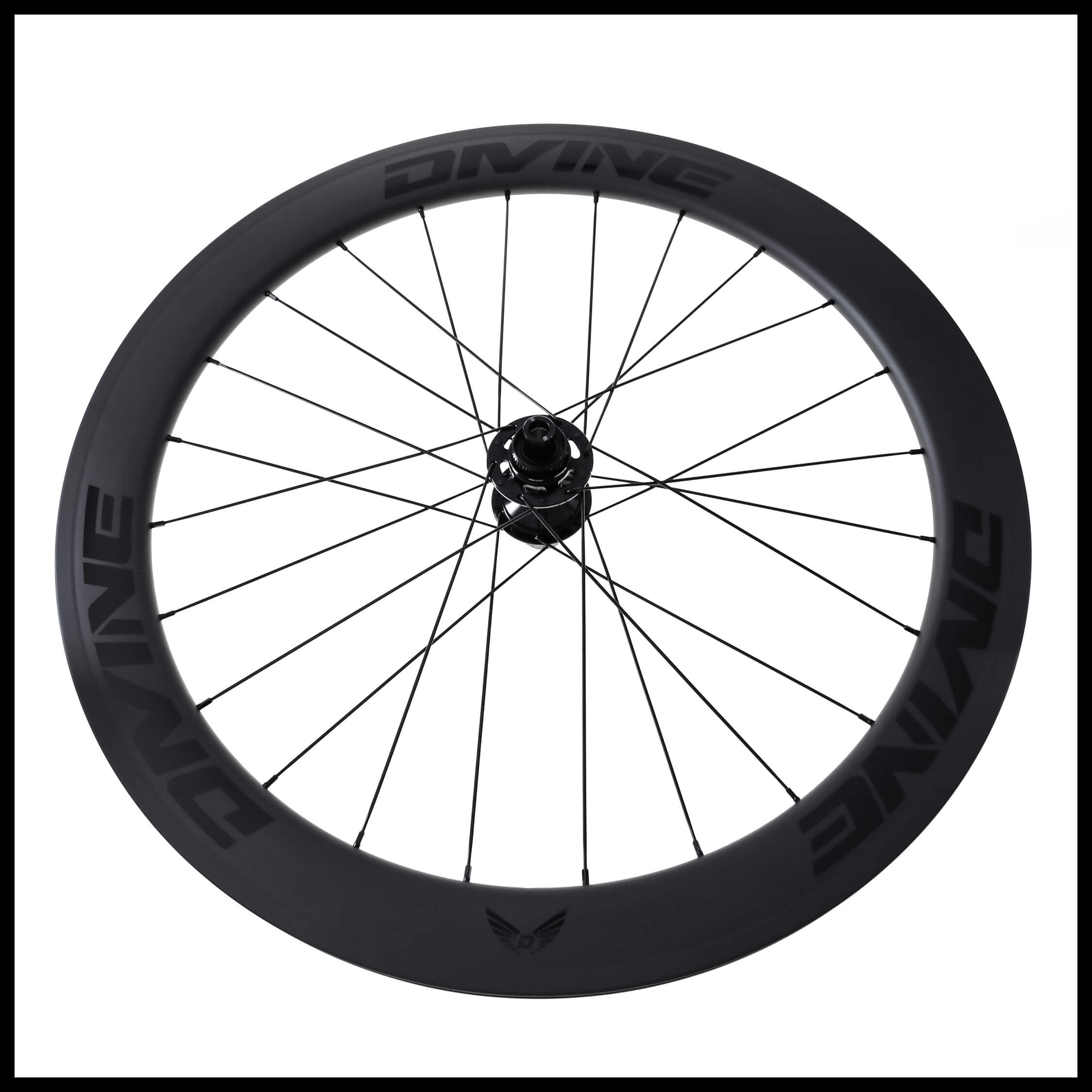 Carbon Road Bike Disc Brake Wheels Black Logo | Divine Cycling